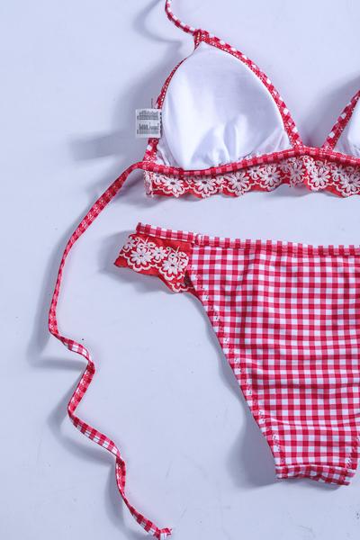 Ma lingerie fine By Leonce Maillot de bain Rosa carreau vintage