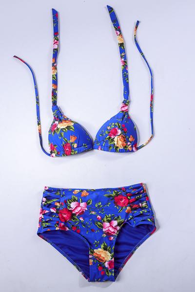 Ma lingerie fine By Leonce Maillot de bain Elisa imprime bleu fleur