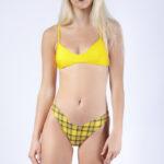 Maillot de bain femme bikini 2 pièces jaune Hélianthe