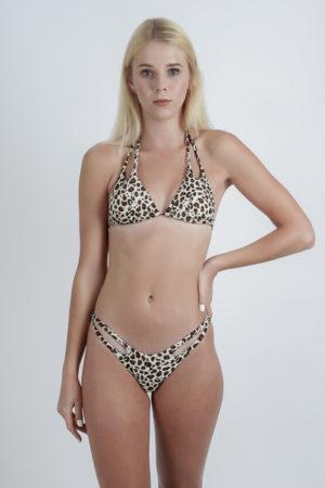 Maillot de bain femme bikini 2 pièces léopard