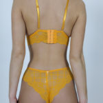 Ensemble jaune 2 pièces culotte soutien-gorge Stella